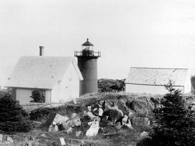 A vintage view of the present day tower and keeper's house.  (FLRL photo)