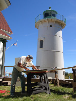 Volunteer extraordinaire Hal Biering made a huge contribution to the restoration of Little River Light Station. (Photo by Bob Trapani, Jr.)