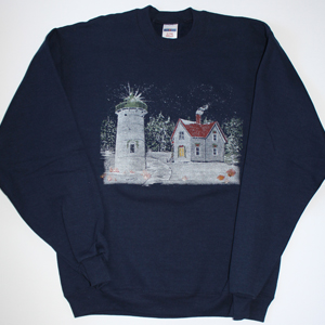 Winter at Little River Light Sweatshirt