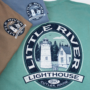 Little River Light Oval Design T-shirt